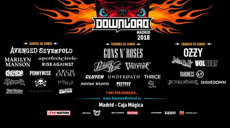 Download Festival desvela su cartel por días