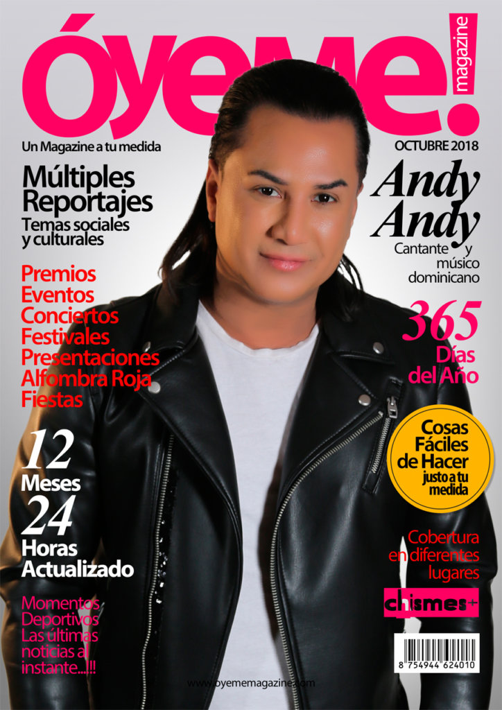 Andy Andy cover Óyeme Magazine!