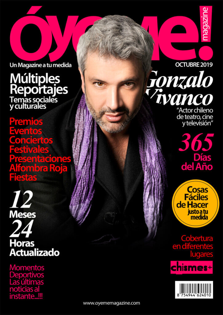 Gonzalo Vivanco cover Óyeme Magazine!